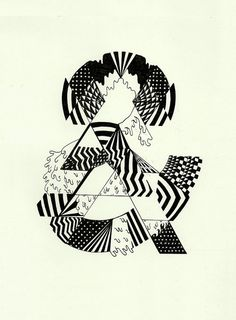 geo ampersand #ampersand #black #white