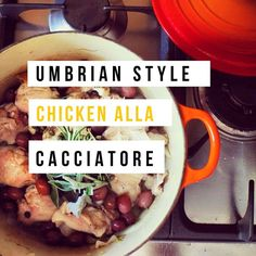 A family favorite for fall!  Umbrian Style Chicken alla Cacciatore - amerryfeast.com