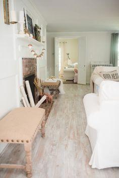 Pergo Willow Lake Pine Flooring In Coastal Style
