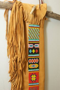 Native American Inspired Drum Beater Bag  by HollyHawkDesigns, $375.00