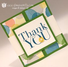 Stampin up stamp it up pretty mary fish another thank you card idea watercolor wonder wonder zfold