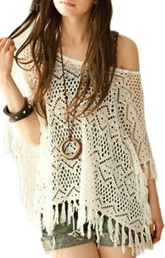 Hollow out tassel sweater cover up