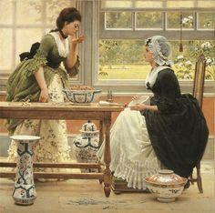 GEORGE DUNLOP LESLIE, Pot Pourri 1874,