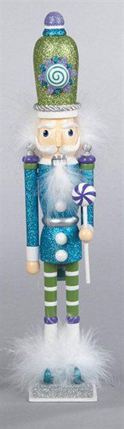 Candy Fantasy Decorative Blue Wooden Candy Kingdom Christmas Nutcracker