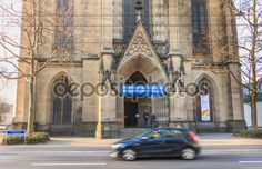 Architectural detail of the Church of St Elizabeth in Basel, Swi - Stock , #AD, #Church, #St, #Architectural, #detail #AD Vector Hand, Basel, Architecture Details, Birds In Flight, Editorial Photography, Barcelona Cathedral, Hand Drawn, Tourism, Saints