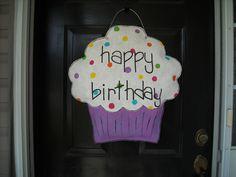Burlap Birthday Cupcake Decoration. via Etsy.