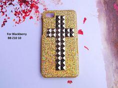 Blackberry Z10 case3D CROSS Gold Glitter by iFashionAccessory, $10.98
