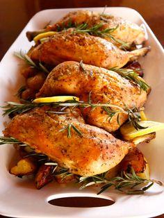 Rosemary Roasted Chicken and Potatoes - Healthy Comforting Dinner Entree Recipe by Tori Avey