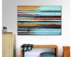 "Abstract Painting ""Striped Longdistance"""