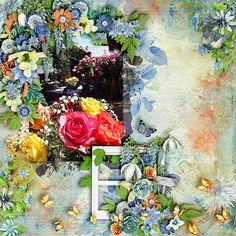 Kit: It's a Garden Party - Studio4 Designworks  {Elements}{Papers}{Papers Plus}  Template: Garden Party 1 - Heartstrings Scrap Art