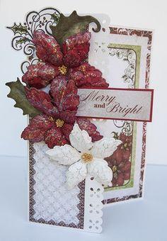 sparkling poinsettia | Heartfelt Creations Large Sparkling Poinsettia Die
