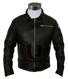 Need for Speed Aaron Paul Slim-fit Leather Jacket | Movie Inspired Jacket    Jacket Features:   Outfit type: Genuine Or Faux Leather Jacket Gender: Male Color: Black Front: Front Zip Closure Collar: Shirt Style Collar Lining: Viscose Lining Cuffs: Zipper Cuffs Pocke