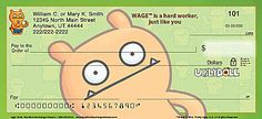 Uglydoll personal checks, available in two styles! #Uglydoll