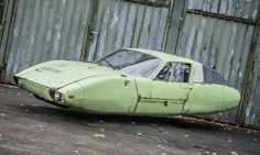 A 1966 Porsche HLS, Hover Lift Series. One of the earliest hover models by Porsche, the Hover Lift Series was plagued by misfortune from its inception. Hover Car, Toyota Tercel, Air Car, Flying Car, Concept Ships, Retro Futuristic, Dieselpunk, Custom Cars, Vintage Cars
