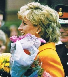 November 7, 1995: Princess Diana during her visit to the Liverpool Women's Hospital in Liverpool.