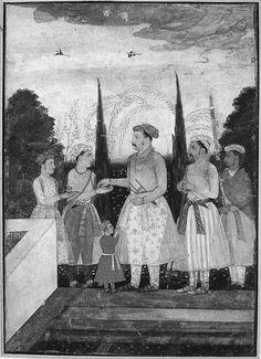 Jahangir with his five sons in a garden Sufi Saints, Indian Artwork, Muhammad, Emperor, Sons, Garden, Painting, Garten, Lawn And Garden