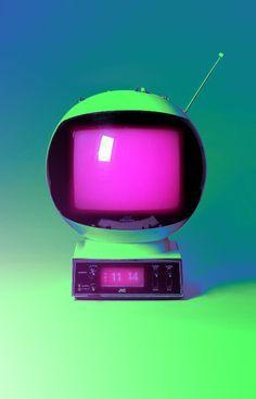 caixa redonda Astronaut television  Televisão de astronauta
