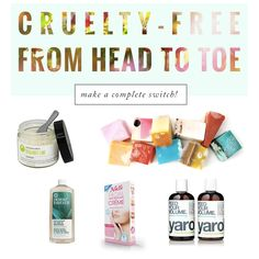 Tips for switching to #crueltyfree deodorant, hair removal, dental care, hair care, makeup, and more!