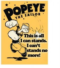 words to popeye song