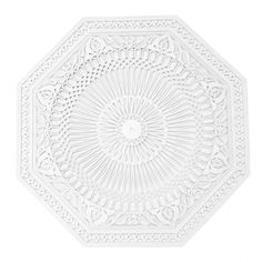 Let you imagination run wild, because ceiling roses can also be used on walls. You can go for a repetitive elements for a playful effect or combine them with a mirror lighting to add a modern touch. Moroccan Design, Moroccan Decor, Moroccan Style, Plaster Ceiling Rose, Coving, Free Park, West London, Mirror With Lights