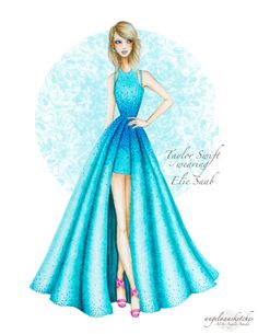 Fashion Design Drawing Taylor Swift Grammy Awards- Updated by angelaaasketches on DeviantArt - Fashion Drawing Dresses, Fashion Illustration Dresses, Fashion Dresses, Fashion Illustrations, Drawing Fashion, Drawings Of Dresses, Dress Design Sketches, Fashion Design Drawings, Fashion Sketches
