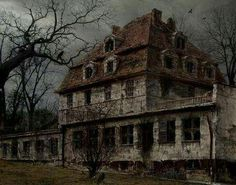 Abandoned old creepy house