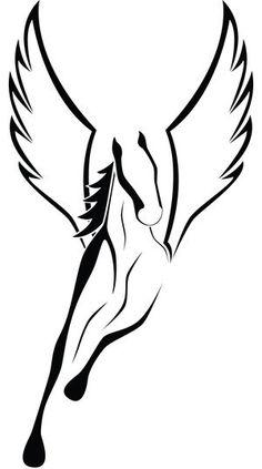 com img src http www tattoostime com images 62 winged horse tattoo Pegasus Tattoo, Pegasus Logo, Horse Tattoo Design, Tattoo Designs, Horse Drawings, Art Drawings, Tattoo Samples, Winged Horse, Motifs Animal