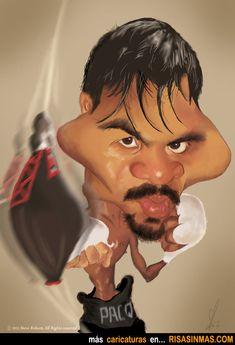Caricatura de Manny Pacquiao.