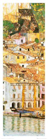 Gustav Klimt  - Malcesine sul Garda (detail) Konsttryck