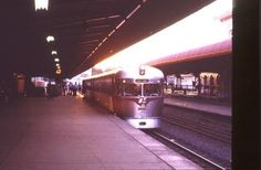 """A """"2000"""" class railcar  at Roma Street Station Brisbane in the 1970's. John Coyle photo by Tramway_John, via Flickr"""