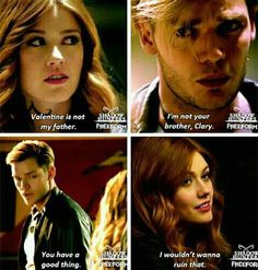 """""""I'm not your brother, Clary."""" Shadowhunters season 2b first look."""