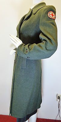 WW2 AMERICAN RED CROSS MILITARY WELFARE UNIFORM DOUBLE BREASTED COAT NAMED