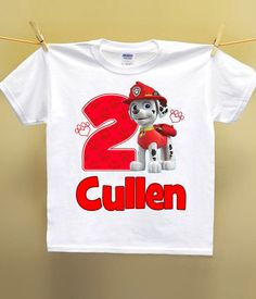 Paw Patrol Birthday Shirt Personalized by AimToPleaseCreations, $11.69