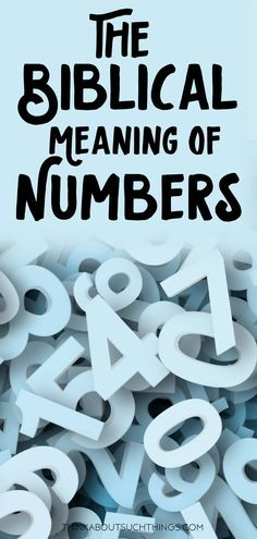Have you ever wonder what the Bible says about numbers? We will explore the scriptures and symbolic patterns that deal with numbers in the Bible.& The post Insight into the Biblical Meaning of Numbers appeared first on Ariella Attracts. Bible Study Notebook, Bible Study Tips, Scripture Study, Bible Lessons, Scripture Journal, Math Lessons, Prayer Scriptures, Bible Teachings, Bible Prayers