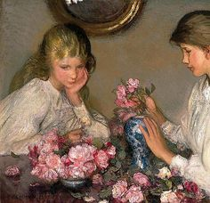 Children And Roses--George Clausen
