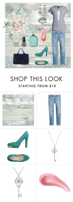 """""""Teal shoes"""" by alicecure ❤ liked on Polyvore featuring WallPops, White House Black Market, TIFFI, Loewe, Tiffany & Co., Bare Escentuals, teal and jeans"""