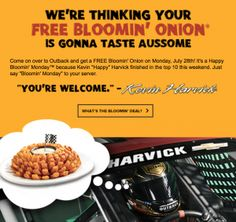 Outback Steakhouse: FREE Bloomin' Onion (Today only 7/28)