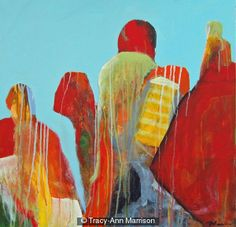 Displaced - Original Abstract Figurative Painting - Acrylic on Stretched Canvas - Ready to Hang