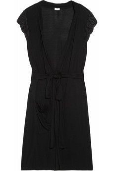 Dessous|Amy embroidered jersey robe|NET-A-PORTER.COM - StyleSays