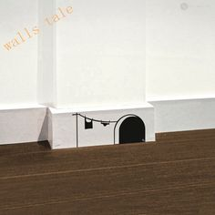 Free shipping New cute cartoon mouse home sticker wall decor Mouse Hole - Children Decor Vinyl Sticker Wall Decal