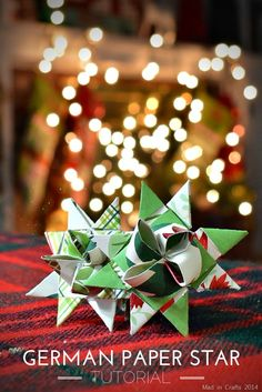German Paper Star Tutorial (with video)