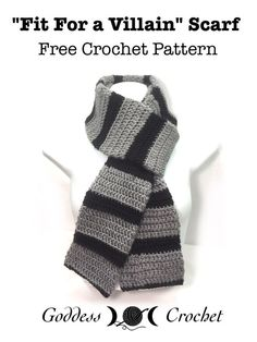 Fit For A Villain Scarf - Free Crochet Pattern