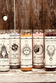 These candles, made with herbs, essential oils, and crystals, are made to be used in spells and rituals as part of the ancient tradition of candle magic. Candle Magic, Candle Spells, Magick, Witchcraft, Wiccan Spells, Magic Spells, Diy Candles, Scented Candles, Witch Room