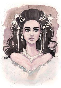 Labyrinth Sarah Art Print by Carlations: Carla Wyzgala Illustrations
