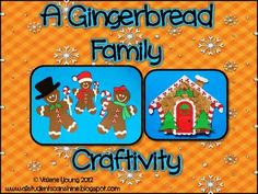 My friend, Valerie, has a precious Gingerbread Family Craftivity - Literacy Activities & Printables