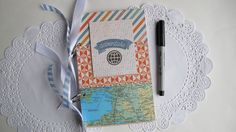 Your place to buy and sell all things handmade Mini Scrapbook Albums, Travel Scrapbook, Mini Albums, Photo Guest Book, Guest Books, Polaroid Photos, Vintage Maps, Card Stock, Make It Yourself