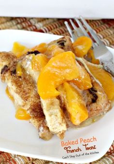 Baked Peach French Toast