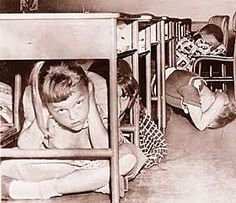 Air-raid drills were conducted in schools across the U.S. (we were fearful of Russia and Cuba)