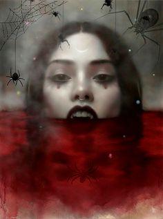 Samhain Halloween, Halloween Gif, Halloween Images, Halloween Horror, Female Vampire, Vampire Art, Dark Images, Dark Pictures, Vampire Pictures