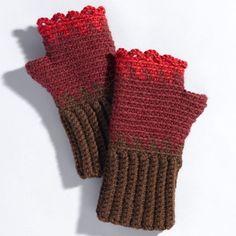 Valley Yarns 207 Rose Hips Crocheted Gauntlets at WEBS | Yarn.com $4.99